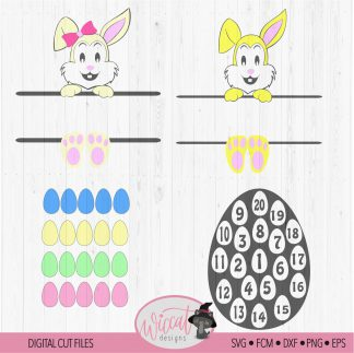 Easter egg count down calendar for kids