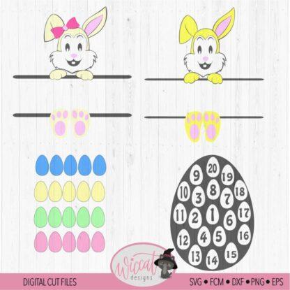 Easter egg count down calendar for kids