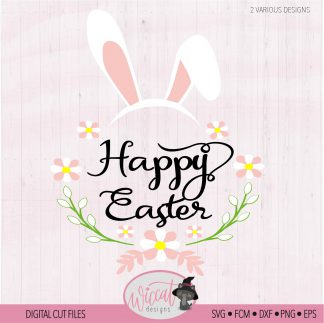 Happy Easter bunny ears Quote