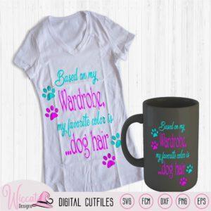 Honden haar t shirt quote, honden poot