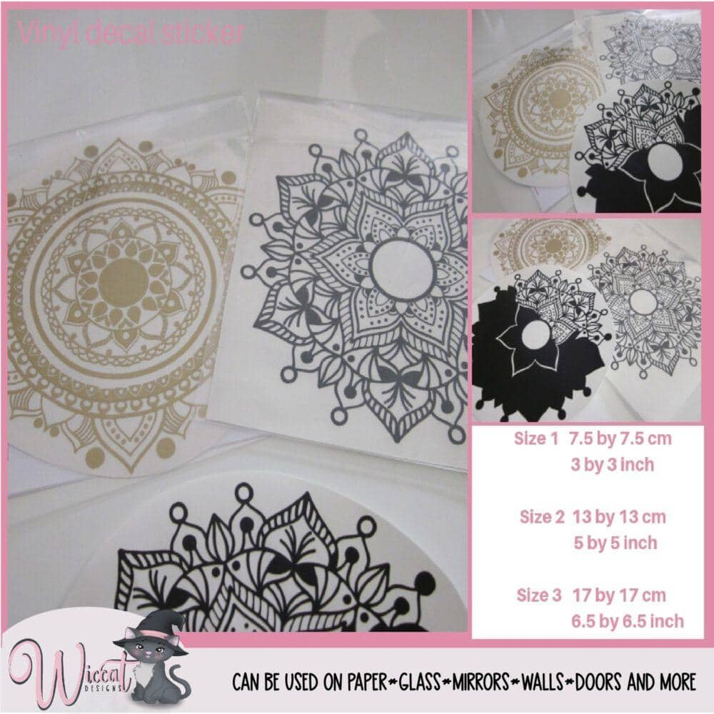 Mandala decal, Vinyl sticker,