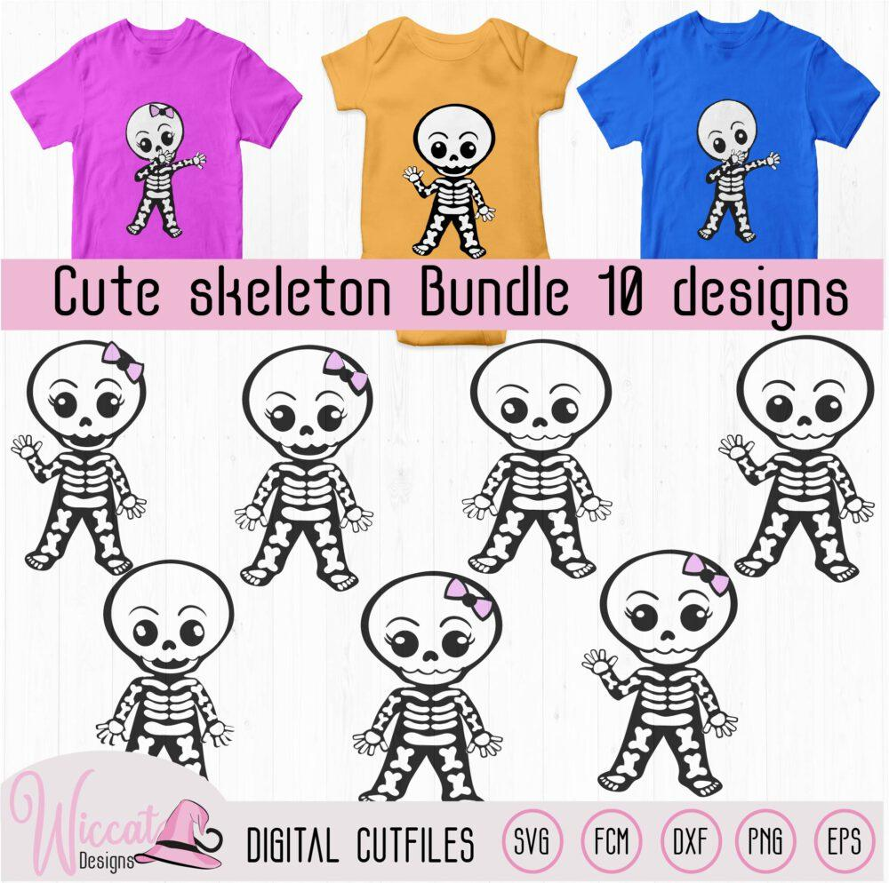Cute skeleton bundle, halloween bundle