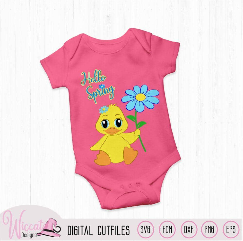 Hello spring baby girl duck,